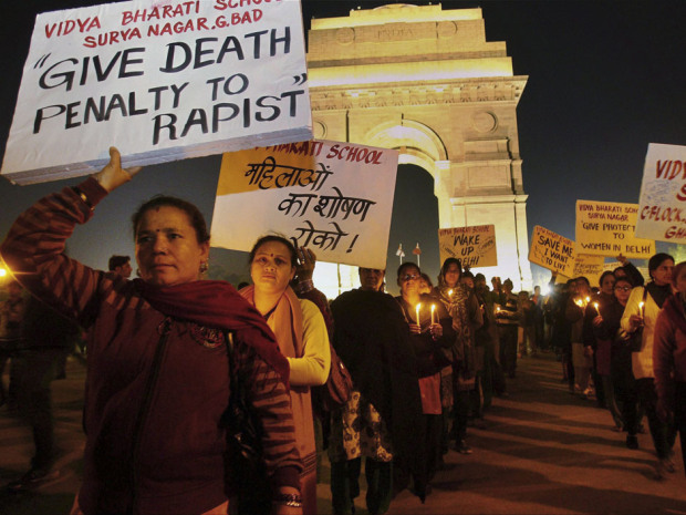 Protesters in India. (Image via National Post)