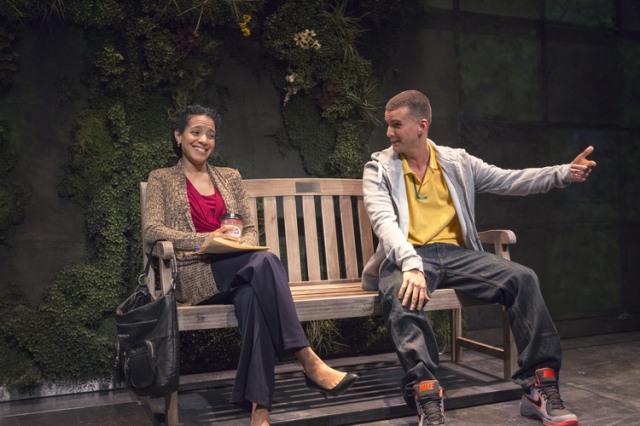 (Photo via NPR) Armando Riesco's character Elliot was inspired by Hudes' cousin, also named Elliot. Riesco has played Elliot throughout the trilogy. He's pictured above in Water by the Spoonful with Zabryna Guevara, who plays Yazmin Ortiz.
