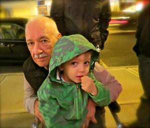 My dad and my nephew, RJ, at a birthday dinner we had in 2012.
